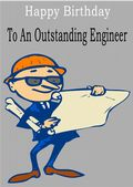 Engineer - Greeting Card